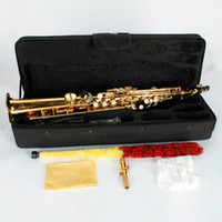 Wholesale Shipping From USA High pitched Voice Descending B Straight Saxophone With PearlShell Buttons17001264