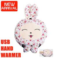 Wholesale lovely cartoon animal usb hand heated mouse pad electric hand warmer