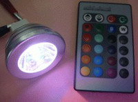 Wholesale 100pcs W RGB Bulb Light Color Change lamp with Remote Control LED spotlight RGB global LED light