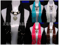 Wholesale scarf jewelry scarf necklaces fashion necklace paypal pendant scarf pendant scarves