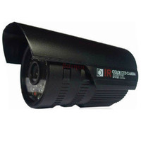 Wholesale 1pcs line IR color CCD camera light night vision Security Camera leds waterproof bolt