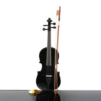 Wholesale 1 Acoustic Violin Case Bow Rosin Black New High Quality Ship From USA