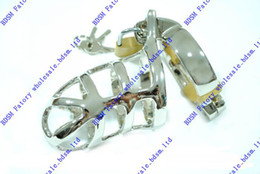 Bdsm fatory Male Chrome Locking Male Chastity Cock Cage