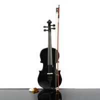 Wholesale 3 Acoustic Violin Case Bow Rosin New Black Ship From USA