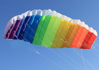 Wholesale 2012 best price newest m Line Stunt Parafoil rainbow Sport Kite