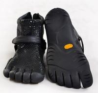 das mulheres negras de couro serpentina botas toe cinco dedos sapatos, sapatos desportivos Tamanho 35-40