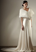 Wholesale 2013 Hot Sale Stunning Bridal Cape Ivory Faux Fur Stole Perfect For Winter Wedding Dress