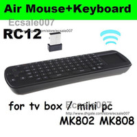 Wholesale Perfect PC Touchpad Fly Air Mouse RC12 GHz Wireless Keyboard for Android Mini PC TV BOX MK808