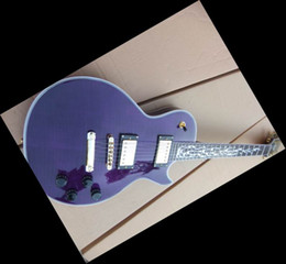 20101101 Best guitar Custom Shop Electric Guitar Flame Inlay purple hot sale china guitar