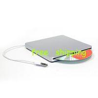 Wholesale amp Super slim slot in External Laptop USB2 DVD RW Drive Silver