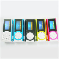 Wholesale Free DHL Mini clip mp3 player OLCD screen flashlight Speaker card slot