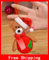 Wholesale Xmas Pendant Snowman Bear Deer Christmas Tree Decoration Supplies Santa Claus Plush Fabric Pendant