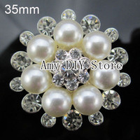 Wholesale 20pcs mm Fashion Crystal Rhinestone Buttons with Crystal and Pearl Crystal Beads Jewelry GZ004
