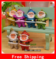 Wholesale Mixed Color Father Christmas Charms Pendant Xmas Tree Decoration Santa Claus Fit Party