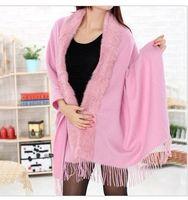 rabbit fur wrap - New Rabbit Fur pashmina Shawl Cashmere scarf shawl cape wraps shawls poncho