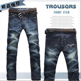 Wholesale The most cattle Washed Jeans Men s straight jeans size Y