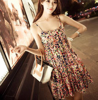 Wholesale Bohemian short skirt Women s Beach Dresses Floral Short Dress Casual Dresses Ladies dress