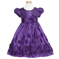 Wholesale Bonnie Jean Purple Taffeta Bow Christmas Dress Toddler Girls T T
