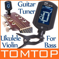 Wholesale LCD Digital Bass Violin Ukulele Guitar Tuner I3 Dropshipping I34