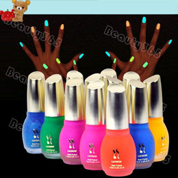 Wholesale New Colors ml Fluorescent Neon Luminous Nail Polish Glow in Dark Nail Varnish Nail Enamel