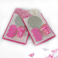 UV Gel Nail Art Set Yes Template Free Shipping 10 set lot Stamping Nail Art Kit, 3 in 1 Round Stainless Steel Image Plate