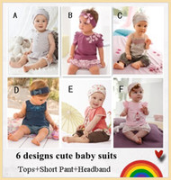 baby christmas clothes - Baby clothing Cute baby suit Tops Short Pants Headband Baby wear Best selling designs