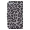 Leopard DESIGN Leather Wallet Case Cover with Card Slot Pouch for iPHone 5 5G DHL Ship 20pcs lot