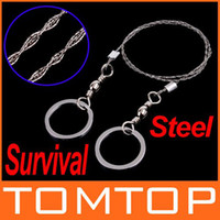 Wholesale 5pcs Steel Wire Saw Strongest Emergency Camping Hunting Survival Tool H8097 Freeshipping