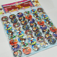 Wholesale 2 sheets Super Mario Buttons Pins Badges Birthday Party cm