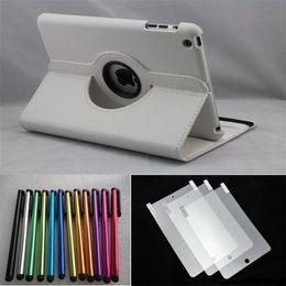 Wholesale 30pcs Leather case for ipad mini Stylus pen Screen Protector for ipad mini Nik