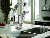Wholesale multi function degree swivel kitchen sink faucet pull out mixer tap double sink TG03