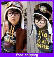 Beanie / Skull Cap air force beanies - Southern Winter Australia Brazil BabyToddler Kids Pilot Cap Hats Earflap Beanie air force goggle