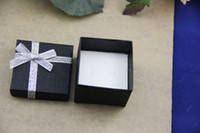 Wholesale 120pcs black jewelry ring box gift box display box cm