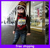 aviator costume - Hot Christmas gift New Kids Cap PILOT AVIATOR Hat GOGGLES Boys Girls Soft COSTUME STEAMPUNK Cap