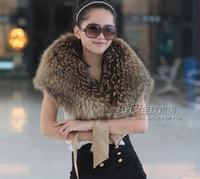 Wholesale 2013 Luxury Wedding Shawl Soft Warmer Raccoon Hair Shrug Cape Stole Bolero Wrap Coats Bridal Jacket