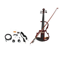 Wholesale 4 Electric Violin Rosin Bow Case Headphone Shoulder Drag Line V Ship From USA