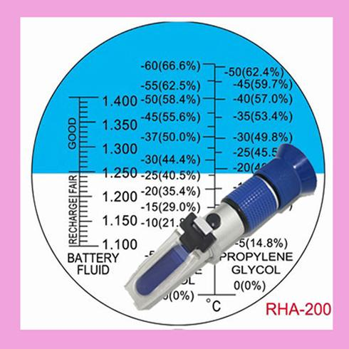 Propylene Glycol Antifreeze >> 2018 Battery Antifreeze Coolant Refractometer Test 60c 0c Ethylene Glycol 50c 0c Propylene ...