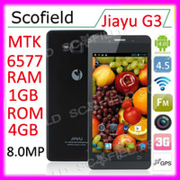 Wholesale JIAYU G3 MTK6577 inch IPS Retina Screen P Android Smart Phone G RAM G GPS