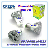 Wholesale GU10 E27 MR16 CREE W x3W Replace W dimmable High power CREE Light LED Bulb Lamp Downlight