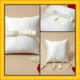 Wholesale 2012 Hot Sales Grace Wedding Ring Pillow In Ivory Satin Wedding Shops Online