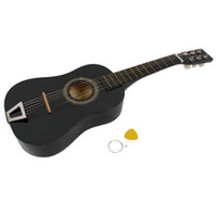 Wholesale 23Inch Children s Acoustic Guitar Pick Strings Black Ship From USA Y1008BL