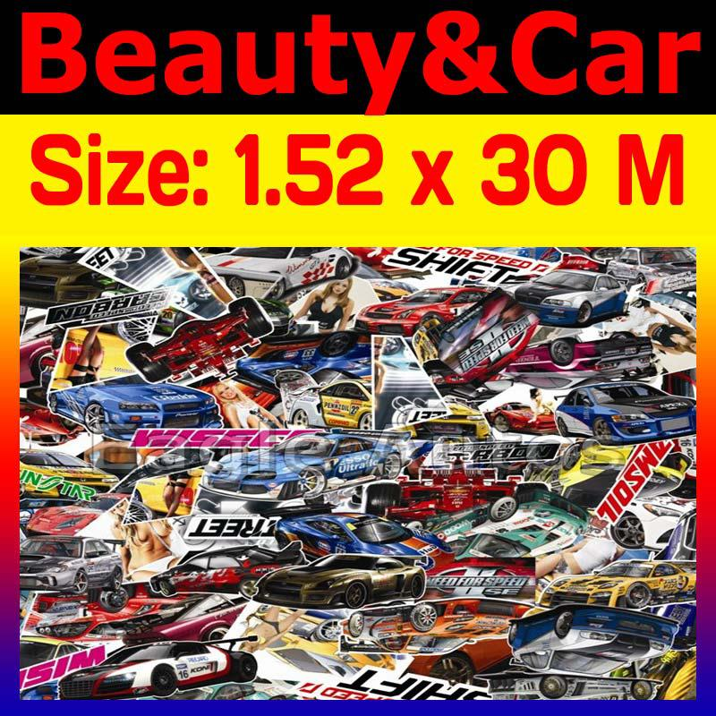 Beauty Graffiti Bomb Carbon Vinyl Wrap Film for KIA Car Body Surface ...