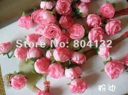 Baby Pink Color Silk Rose Rosebud Flower Head 100pcs Artificial Flowers Rose Camellia Peony Flower Head Wedding Christmas Party