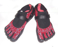 Wholesale Red mesh Toe shoes for Lovers Five fingers Sports shoes Size