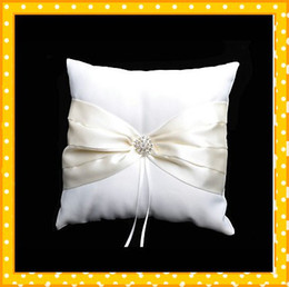 Wholesale 2012 Hot Sales Discount Satin Wedding Ring Pillow With Ribbons And Rhinestone Wedding Shop Online