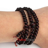 Wholesale 12pcs Unisex Sandalwood Buddha Bead Buddhist Lucky Stretchy Bracelet