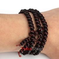 Unisex sandalwood beads - 12pcs Unisex Sandalwood Buddha Bead Buddhist Lucky Stretchy Bracelet