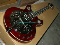Hollow Body best resonator guitar - Top Newest Dobro Resonator Electric Guitar Red BEST guitars