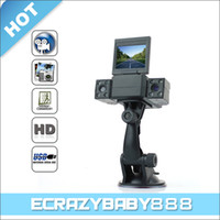 Wholesale 2 quot LCD Screen Car DVR Night Vision Cameras Degree Wide angle Lens Digital Video Recorder