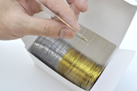 Nail Art 3D Decoration 3d nail art decoration - Gold Color Silver Color Striping Tape Metallic Yarn Line Nail Art Decora